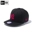 【メーカー取次】NEW ERA ニューエラ Youth キッズ用 9FIFTY MLB ニューヨーク ヤンキース ブラックXピンクロゴ 11308373 キャップ