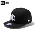 ☆ただいま20%割引中☆【メーカー取次】NEW ERA ニューエラ Youth キッズ用 9FIFTY MLB ニューヨーク ヤンキース ブラックXホワイトロゴ 11308487 キャップ