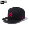 【メーカー取次】 NEW ERA ニューエラ 59FIFTY MLB ニューヨーク・ヤンキース ブラックXストロベリー 11308565 キャップ