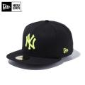 【メーカー取次】 NEW ERA ニューエラ 59FIFTY MLB ニューヨーク・ヤンキース ブラックXネオンイエロー 11308569 キャップ