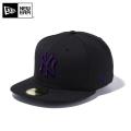 【メーカー取次】 NEW ERA ニューエラ 59FIFTY MLB ニューヨーク・ヤンキース ブラックXパープル 11308574 キャップ