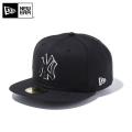 【メーカー取次】 NEW ERA ニューエラ 59FIFTY MLB ニューヨーク・ヤンキース ブラックXブラック ホワイトアウトライン 11308576 キャップ