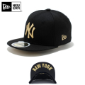 ☆20%OFF割引中☆【メーカー取次】NEW ERA ニューエラ Kid's キッズ用 59FIFTY MLB UNDERVISOR ニューヨーク ヤンキース ブラックXゴールドロゴ NEW YORK 11310394 キャップ 帽子