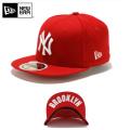 ☆ただいま20%割引中☆【メーカー取次】NEW ERA ニューエラ Kid's キッズ用 59FIFTY MLB UNDERVISOR ニューヨーク ヤンキース レッドXホワイトロゴ BROOKLYN 11310395 キャップ