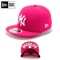☆20%OFF割引中☆【メーカー取次】NEW ERA ニューエラ Kid's キッズ用 59FIFTY MLB UNDERVISOR ニューヨーク ヤンキース ピンクXホワイトロゴ BROOKLYN 11310396 キャップ 帽子