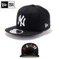 ☆20%OFF割引中☆【メーカー取次】NEW ERA ニューエラ Kid's キッズ用 59FIFTY MLB UNDERVISOR ニューヨーク ヤンキース ブラックXホワイト/マルチ BROOKLYN 11310397 キャップ 帽子