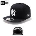 ☆20%OFF割引中☆【メーカー取次】NEW ERA ニューエラ Kid's キッズ用 59FIFTY MLB UNDERVISOR ニューヨーク ヤンキース ブラックXホワイトロゴ BROOKLYN 11310398 キャップ 帽子