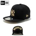 ☆ただいま20%割引中☆【メーカー取次】NEW ERA ニューエラ Kid's キッズ用 59FIFTY MLB UNDERVISOR ニューヨーク ヤンキース ブラックXゴールドロゴ BROOKLYN 11310399 キャップ