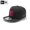 ☆20%OFF割引中☆【メーカー取次】NEW ERA ニューエラ Kid's キッズ用 59FIFTY MLB ニューヨーク ヤンキース ブラックXストロベリー 11310407 キャップ