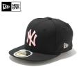 ☆20%OFF割引中☆【メーカー取次】NEW ERA ニューエラ Kid's キッズ用 59FIFTY MLB ニューヨーク ヤンキース ブラックXピンクロゴ 11310408 キャップ