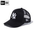☆15%OFF割引中☆【メーカー取次】NEW ERA ニューエラ Youth キッズ用 9FORTY A-Frame Trucker ニューヨーク ヤンキース ブラックXホワイトロゴ 11433930 キャップ