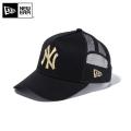 ☆20%OFF割引中☆【メーカー取次】NEW ERA ニューエラ Youth キッズ用 9FORTY A-Frame Trucker ニューヨーク ヤンキース ブラックXゴールドロゴ 11433931 キャップ 帽子