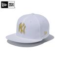 ☆ただいま20%割引中☆【メーカー取次】NEW ERA ニューエラ Youth キッズ用 9FIFTY MLB ニューヨーク ヤンキース ホワイトXゴールドロゴ 11433963 キャップ