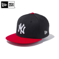 ☆今だけ20%OFF割引中☆【メーカー取次】NEW ERA ニューエラ Youth キッズ用 9FIFTY MLB ニューヨーク ヤンキース ブラックXレッド 11433965 キャップ