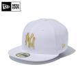 ☆ただいま20%OFF割引中☆【メーカー取次】NEW ERA ニューエラ Kid's キッズ用 59FIFTY MLB ニューヨーク ヤンキース ホワイトXゴールドロゴ 11434027 キャップ 帽子