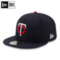 ☆15%OFFセール☆【メーカー取次】 NEW ERA ニューエラ 59FIFTY MLB On-Field ミネソタ・ツインズ ネイビー 11449359 キャップ