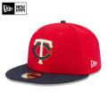 ☆15%OFFセール☆【メーカー取次】 NEW ERA ニューエラ 59FIFTY MLB On-Field ミネソタ・ツインズ レッドXネイビー 11449360 キャップ