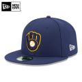 ☆15%OFFセール☆【メーカー取次】 NEW ERA ニューエラ 59FIFTY MLB On-Field ミルウォーキー・ブルワーズ ネイビー 11449363 キャップ