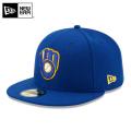 ☆15%OFFセール☆【メーカー取次】 NEW ERA ニューエラ 59FIFTY MLB On-Field ミルウォーキー・ブルワーズ ブルー 11449364 キャップ