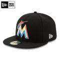 ☆15%OFFセール☆【メーカー取次】 NEW ERA ニューエラ 59FIFTY MLB On-Field マイアミ・マーリンズ ブラック 11449366 キャップ