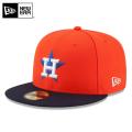 ☆15%OFFセール☆【メーカー取次】 NEW ERA ニューエラ 59FIFTY MLB On-Field ヒューストン・アストロズ オレンジXネイビー 11449372 キャップ