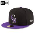 ☆まとめ割☆【メーカー取次】 NEW ERA ニューエラ 59FIFTY MLB On-Field コロラド・ロッキーズ ブラックXパープル 11449377 キャップ