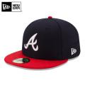 ☆まとめ割☆【メーカー取次】 NEW ERA ニューエラ 59FIFTY MLB On-Field アトランタ・ブレーブス ネイビーXレッド 11449395 キャップ