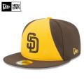 ☆まとめ割☆【メーカー取次】 NEW ERA ニューエラ 59FIFTY MLB On-Field サンディエゴ・パドレス イエローXブラウン 11457594 キャップ