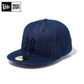 ☆まとめ割☆【メーカー取次】 NEW ERA ニューエラ 59FIFTY MLB ニューヨーク・ヤンキース インディゴデニム 11596345 キャップ 帽子