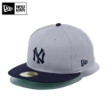☆まとめ割☆【メーカー取次】 NEW ERA ニューエラ 59FIFTY CT ニューヨーク・ヤンキース2 グレーXネイビー 11596348 キャップ 帽子