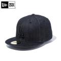 ☆まとめ割☆【メーカー取次】 NEW ERA ニューエラ 59FIFTY MLB ロサンゼルス・ドジャース ブラックデニム 11596355 キャップ 帽子
