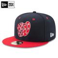 ☆まとめ割☆【メーカー取次】 NEW ERA ニューエラ 59FIFTY MLB On-Field ワシントン・ナショナルズ ネイビーXレッド USフラッグ 11676931 キャップ 帽子