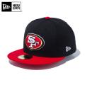 ☆ただいま15%割引中☆【メーカー取次】 NEW ERA ニューエラ 59FIFTY NFL サンフランシスコ・フォーティナイナーズ ブラックXスカーレット 12019009 キャップ 帽子