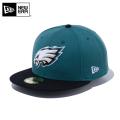 ☆ただいま15%割引中☆【メーカー取次】 NEW ERA ニューエラ 59FIFTY NFL フィラデルフィア・イーグルス パインニードルグリーンXブラック 12019011 キャップ 帽子