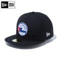 ☆ただいま15%割引中☆【メーカー取次】 NEW ERA ニューエラ 59FIFTY NBA フィラデルフィア・セブンティシクサーズ ブラック 12019012 キャップ 帽子