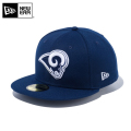 ☆ただいま15%割引中☆【メーカー取次】 NEW ERA ニューエラ 59FIFTY NFL ロサンゼルス・ラムズ オーシャンサイドブルー 12019017 キャップ 帽子