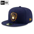 NEW ERA ニューエラ 59FIFTY MLB On-Field ミルウォーキー・ブルワーズ ネイビー 12026661 キャップ