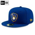 NEW ERA ニューエラ 59FIFTY MLB On-Field ミルウォーキー・ブルワーズ ロイヤル 12026662 キャップ