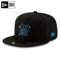 NEW ERA ニューエラ 59FIFTY MLB On-Field マイアミ・マーリンズ ブラック 12026663 キャップ