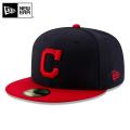 NEW ERA ニューエラ 59FIFTY MLB On-Field クリーブランド・インディアンズ ネイビーXレッド 12026664 キャップ