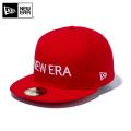 ☆ただいま15%割引中☆【メーカー取次】 NEW ERA ニューエラ 59FIFTY NEW ERA ブランドネーム スカーレットXホワイト 12037934 キャップ 帽子