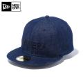 ☆ただいま15%割引中☆【メーカー取次】 NEW ERA ニューエラ 59FIFTY NEW ERA ブランドネーム インディゴデニムXブラック 12037936 キャップ 帽子