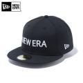 ☆ただいま15%割引中☆【メーカー取次】 NEW ERA ニューエラ 59FIFTY NEW ERA ブランドネーム ブラックXホワイト 12037938 キャップ 帽子