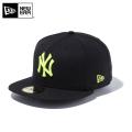 ☆10%OFF☆【メーカー取次】 NEW ERA ニューエラ 59FIFTY MLB ニューヨーク・ヤンキース ブラックXネオンイエロー 12492045 キャップ【Sx】