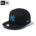 ☆10%OFF☆【メーカー取次】 NEW ERA ニューエラ 59FIFTY MLB ニューヨーク・ヤンキース ブラックXブライトターコイズ 12492047 キャップ【Sx】