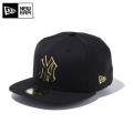 ☆10%OFF☆【メーカー取次】 NEW ERA ニューエラ 59FIFTY MLB ニューヨーク・ヤンキース ブラックXブラック ゴールドアウトライン 12492049 キャップ【Sx】