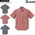 【メーカー取次】【キャンペーン対象外】C.A.B.CLOTHING ボタンダウン ショートスリーブ チェックシャツ 3色【1274】