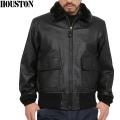 WAIPER別注 HOUSTON ヒューストン G-1レザーフライトジャケット BLACK