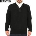 WAIPER別注 HOUSTON ヒューストン A-1セーター ブラック【13WP25】