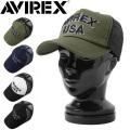 ☆まとめ割☆AVIREX アビレックス 3D刺繍 ツイル メッシュキャップ【GA14407200】